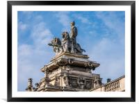 Britannia Statue -The Guildhall Kingston upon Hull, Framed Mounted Print