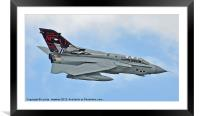 Tornado jet fly past Dambusters, Framed Mounted Print