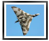 Avro Vulcan over the Midlands, Framed Mounted Print