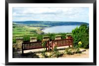 Bench with a view, Framed Mounted Print
