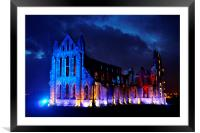 The Illuminated Whitby Abbey, Framed Mounted Print
