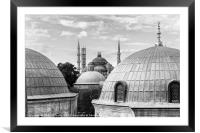 The Blue Mosque in Istanbul from the Hagia Sophia, Framed Mounted Print