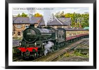 Steaming out of Grosmont, Framed Mounted Print