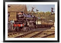 NYMR Steam Train at Grosmont Yorkshire, Framed Mounted Print