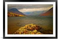 Wast Water looking towards Great Gable, Framed Mounted Print