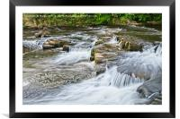 River Swale waterfalls at RIchmond, Yorkshire, Framed Mounted Print
