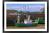 Maryport Harbour and lighthouse, Framed Mounted Print