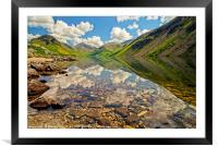 Wastwater Lake District Reflections, Framed Mounted Print