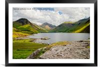 Great Gable and Wastwater, Framed Mounted Print
