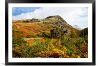 Autumn in Wasdale, Lake District, Framed Mounted Print