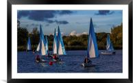 Dinghy Sailing at Dinton Pastures, Framed Mounted Print