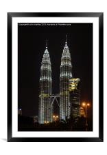 Petronas Towers, Framed Mounted Print