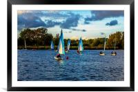 Sailing in Dinton Pastures, Framed Mounted Print