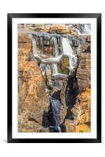 Upper Blyde Rver Canyon Waterfalls, Framed Mounted Print