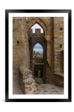 A View Through an Arch at Carcassone, Framed Mounted Print