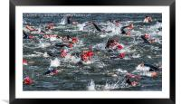Nottingham Triathlon 2015, Framed Mounted Print