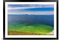 Geothermal activity - Yellowstone Lake, Framed Mounted Print