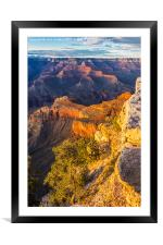 Sunset in the Grand Canyon - Southern Rim, Framed Mounted Print