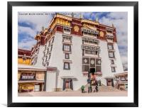 The White Palace - Lhasa, Tibet, Framed Mounted Print
