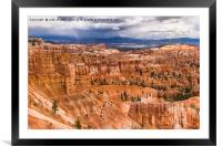 Bryce Canyon Hoodoos - USA, Framed Mounted Print