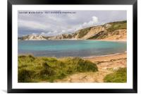 Worbarrow Bay in Dorset, Framed Mounted Print