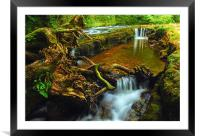 Waterfall county, South Wales, Framed Mounted Print