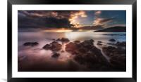 Dramatic Rotherslade Bay, Framed Mounted Print
