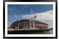 Welsh Rugby Union Stadium, Wales, Framed Mounted Print