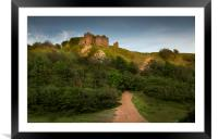 The ruins of Pennard Castle, Framed Mounted Print