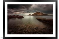 Rough weather over Mumbles lighthouse, Framed Mounted Print