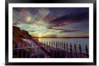 Sunset at Mumbles, Framed Mounted Print