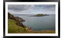 Worms Head on the Gower peninsula, Framed Mounted Print