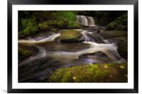 Waterfall on The Clydach River, Framed Mounted Print