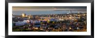Swansea city South Wales, Framed Mounted Print