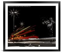 bus trail, Framed Mounted Print