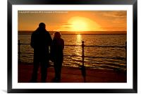 Sunset viewed from West Kirby, Wirral, UK, Framed Mounted Print
