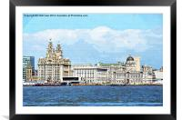 Liverpools Famous Three Graces, Framed Mounted Print