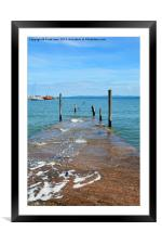 The Pier at Rhos-on-Sea, North Wales, Framed Mounted Print