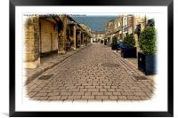 A typical road in Wetherby (Grunged effect), Framed Mounted Print