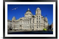 Liverpool's iconic Cunard Building, Framed Mounted Print