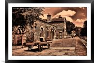 Hadlow Road Station, Willaston, Wirral, UK, Framed Mounted Print