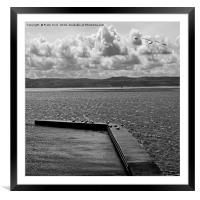 West Kirby Marine Lake on a windy day, Framed Mounted Print