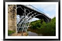 Abraham Darby's Iron bridge, Framed Mounted Print