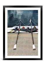 The scull lies ready for its crew., Framed Mounted Print