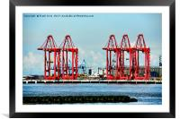 Standing tall is Liverpool 2 terminal, Framed Mounted Print