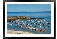 New Quay harbour in West Wales., Framed Mounted Print