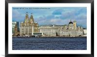 Liverpool's Three graces -artistic form., Framed Mounted Print
