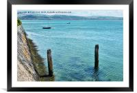 Aberdovey water front., Framed Mounted Print