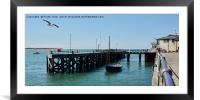 Aberdovey jetty , Framed Mounted Print