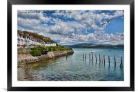 Aberdovey sea front, Framed Mounted Print